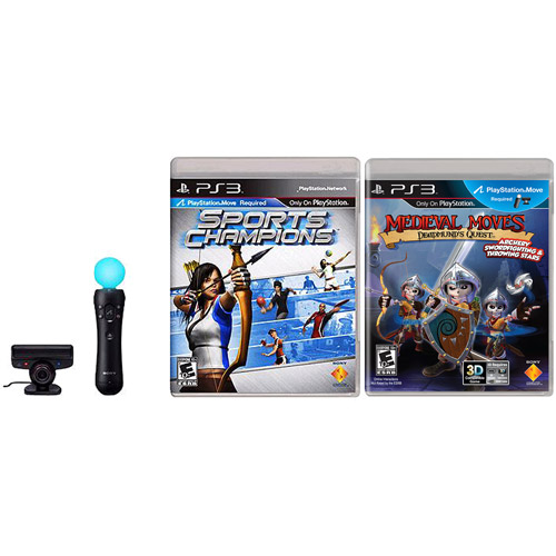PS3 Sony Move Sports Champions/Deadmund's Quest Software Bundle