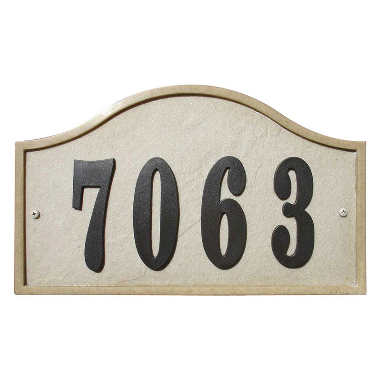 Ridgestone Serpentine Address Plaque by Qualarc, Inc.