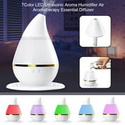 250 ml aroma Humidifier,Mist Ultrasonic Humidifiers Air Purifier Atomizer Essential Oil Diffuser - 7 Color LED Lights For Home Bedroom Baby Room Office