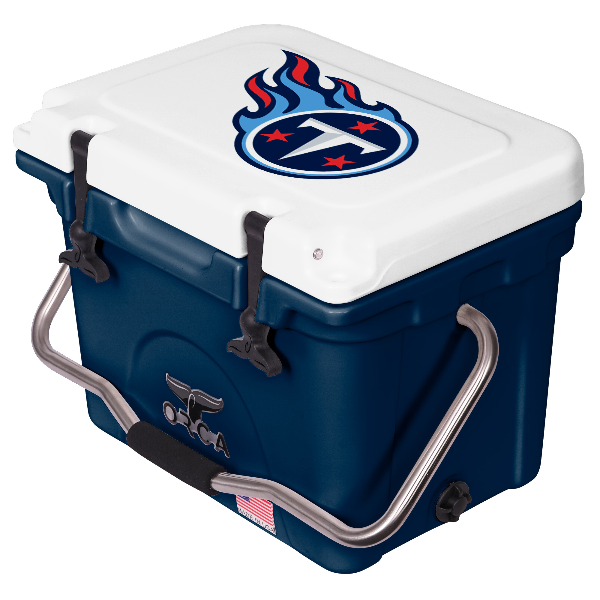 Tennessee Titans ORCA 20-Quart Hard-Sided Cooler - Navy/White - No Size