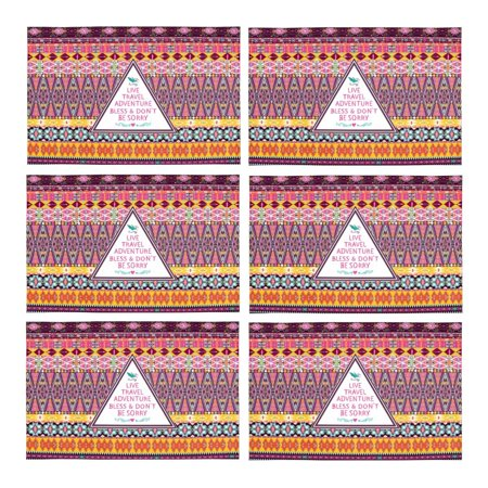 Mkhert Hipster Tribal Pattern With Native American Geometric And