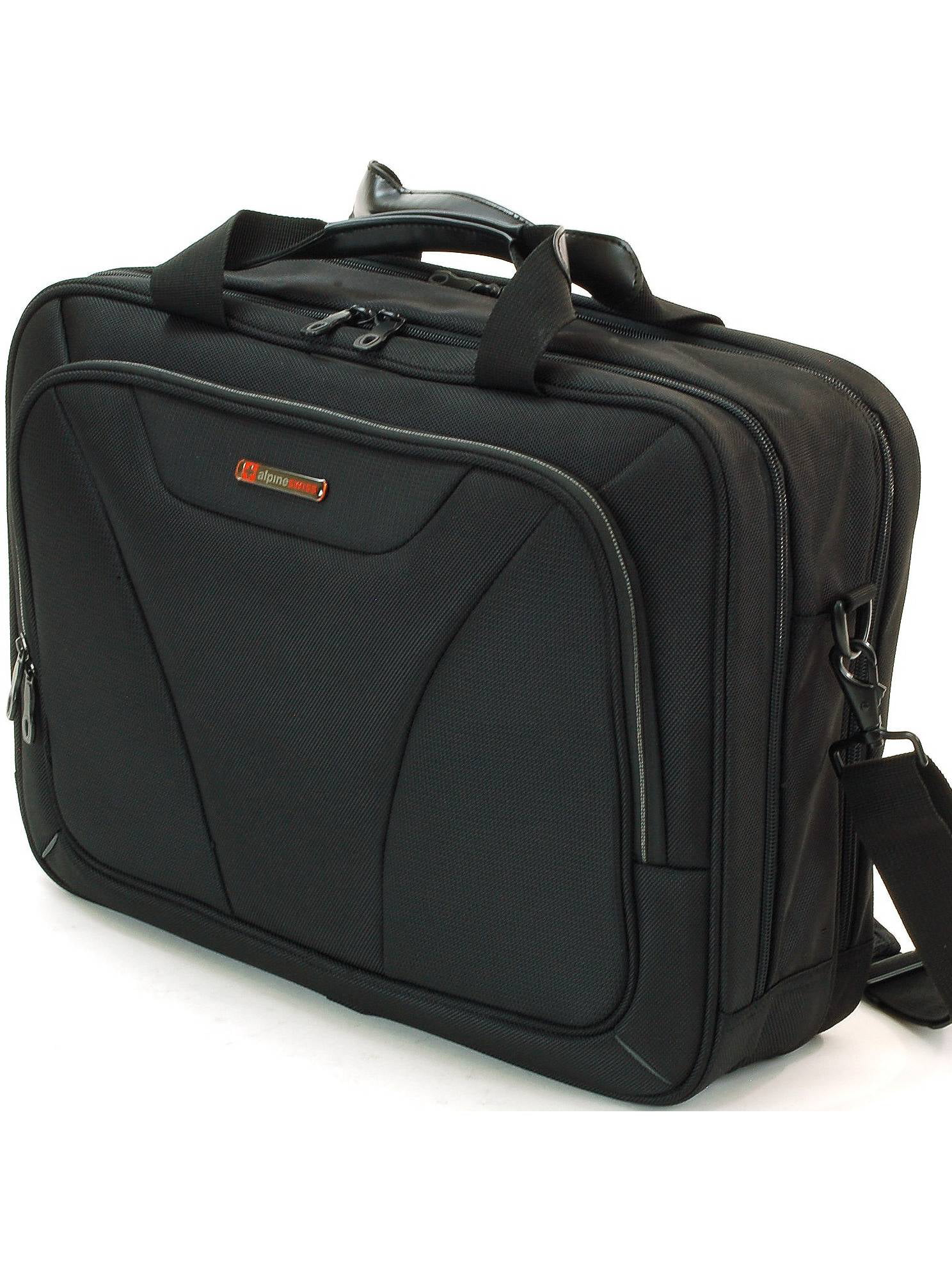 Alpine Swiss Laptop Briefcase Computer Bag Business Case Portfolio Tablet Sleeve Black One Size by Alpine Swiss