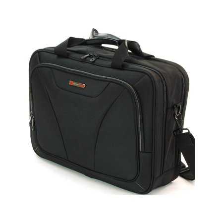 Alpine Swiss Laptop Briefcase Computer Bag Business Case Portfolio Tablet Sleeve Black One Size