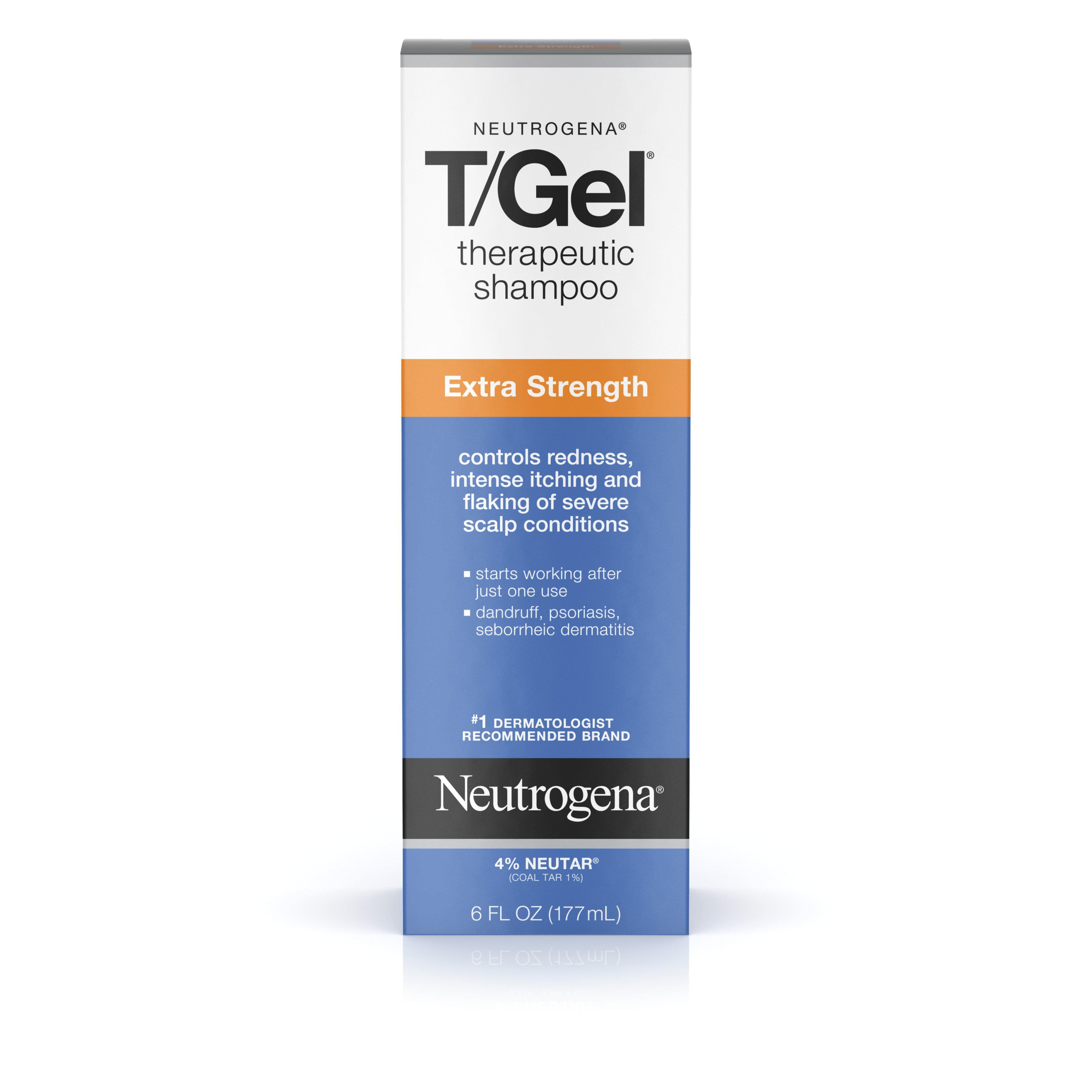 Neutrogena T/Gel Extra Strength Therapeutic Shampoo, 6 Oz - Walmart.com