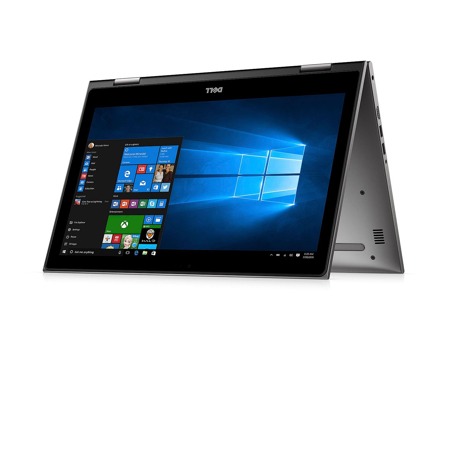 Inspiron 15 5000 2-in-1, i5578-3052GRY, 15.6-inch FHD Touch (1920x1080), IntelR Core i3-7100U, 8GB 2400MHz DDR4, 1 TB 5400 RPM HDD, Intel HD Graphics 620
