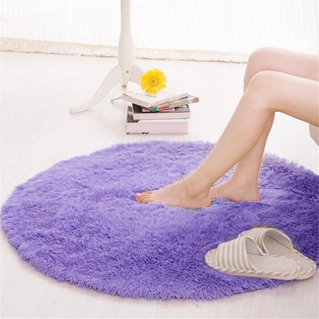 "39.37x39.37x1.18"" Circular Circle Round Fluffy Anti-Skid Shaggy Study Room Home Bedroom Carpet Floor Mat Non Slip Wash Machine Quickly&Fast Drying Washable Floor Small Rugs Mat Rug"