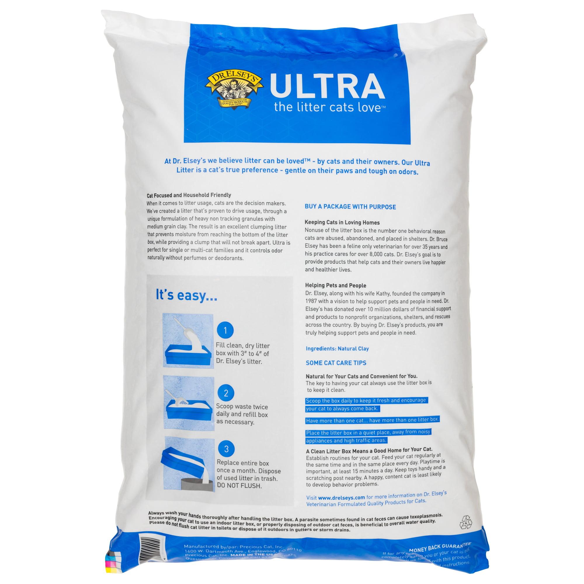 Dr. Elsey\'s Precious Cat Ultra Premium Clumping Cat Litter, 18 Lb ...