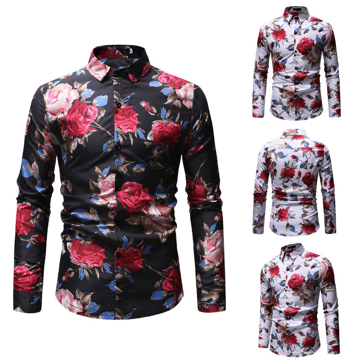 Urkutoba Fashion Mens Luxury Long Sleeve Shirt Casual Slim Fit