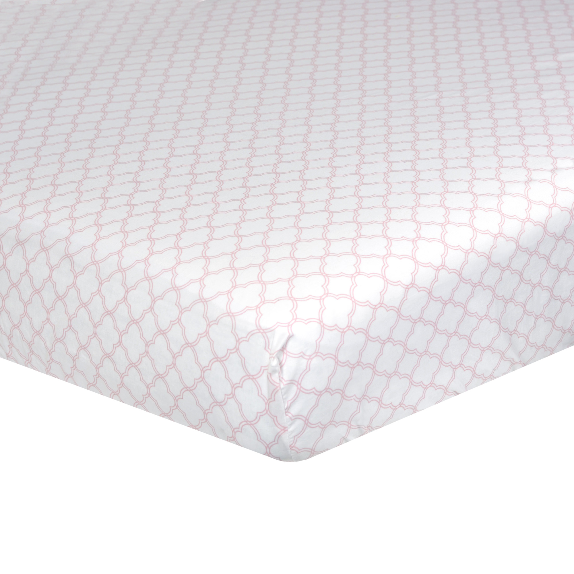 Just Born Dream Fitted Crib Sheet, Pink Trellis