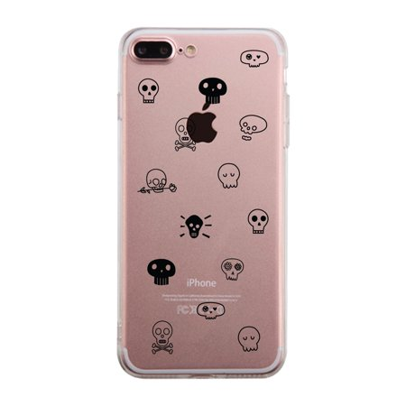 Skull Pattern Clear Phone Case](Halloween Phone)