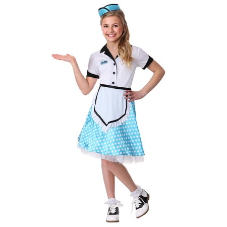 Kid's 1950's Diner Darling Costume - 1950's Style Halloween Costumes