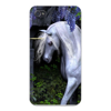 Apple Iphone Custom Case 5 / 5s AND SE White Plastic Snap on - Mystical Creature Unicorn w/ White Mane East access to all buttons and ports