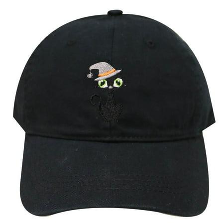 City Hunter C104 Halloween Black Cat Cotton Baseball Caps - Black - Napa Halloween City