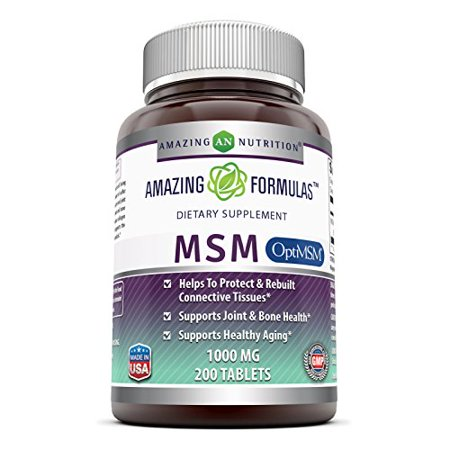 Amazing Formulas OptiMSM - 1000 mg 200 Tablets - Supports Connective Tissue, Healthy Aging & Joint Function, Skin Health - Joint Care Womens Formula