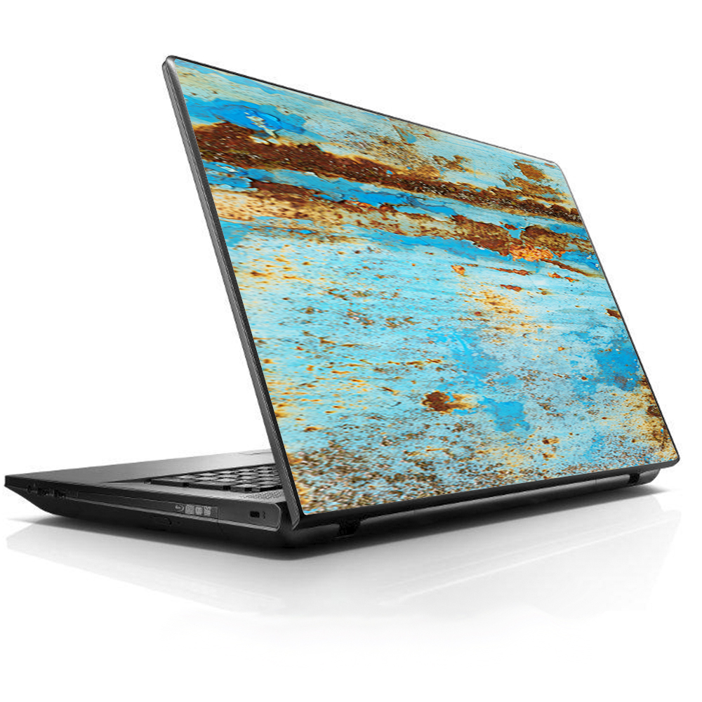 "Laptop Notebook Universal Skin Decal Fits 13.3"" to 15.6"" / Baby Blue Truck Rust"