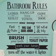 Belvedere Designs LLC Bathroom Rules Wall Quotes  Decal