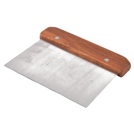 Kitchen Cream Angled Cake Icing Spatula Scraper Silver Tone Wood (Best Spatula For Icing Cake)