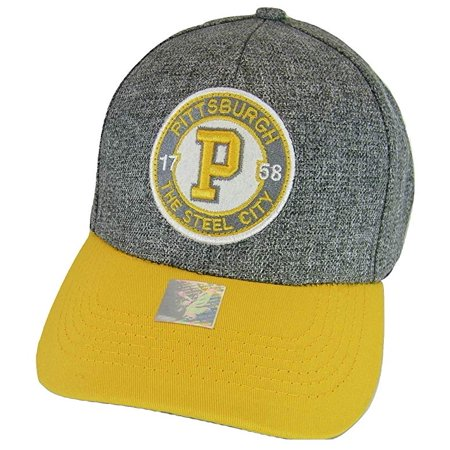 Pittsburgh Steel City Patch Style Adjustable Baseball Cap (Gray/Gold)](Party City Pittsburgh Pa)