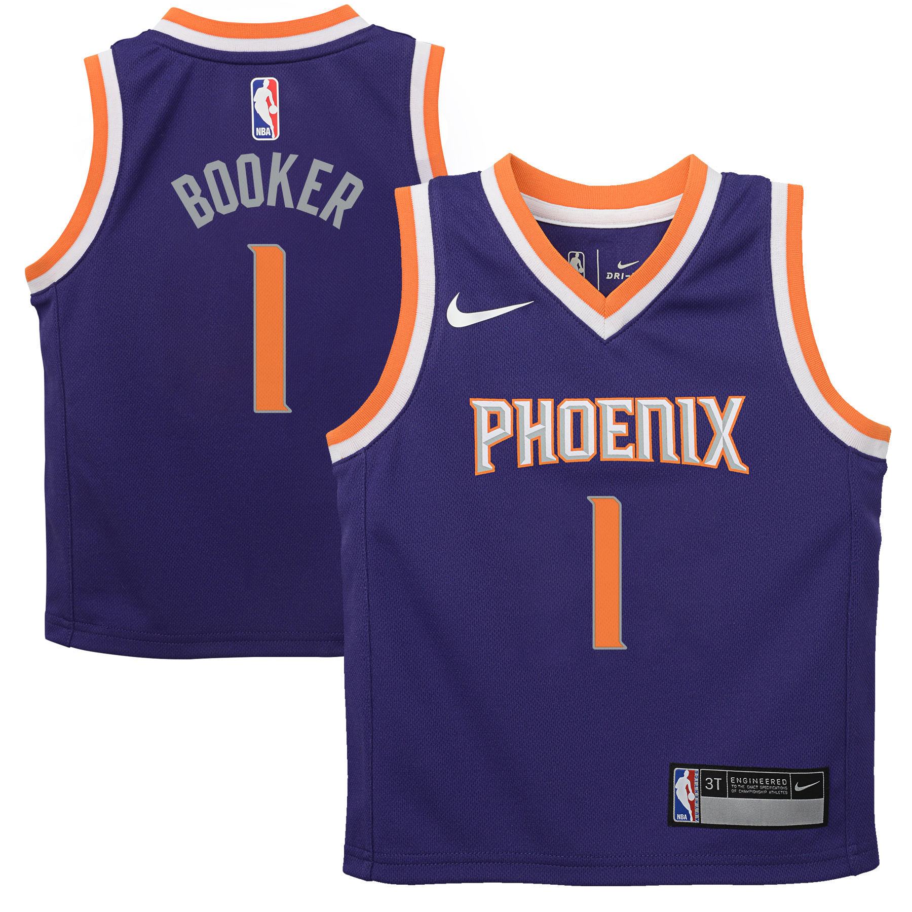 Devin Booker Phoenix Suns Nike Toddler Replica Jersey Purple - Icon Edition