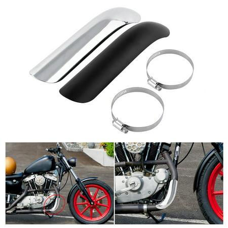 Motorcycle Shield (Muffler Cover Guard Steel Motorcycle Heat Shield Curve Exhaust Muffler Pipe Cover For Honda)