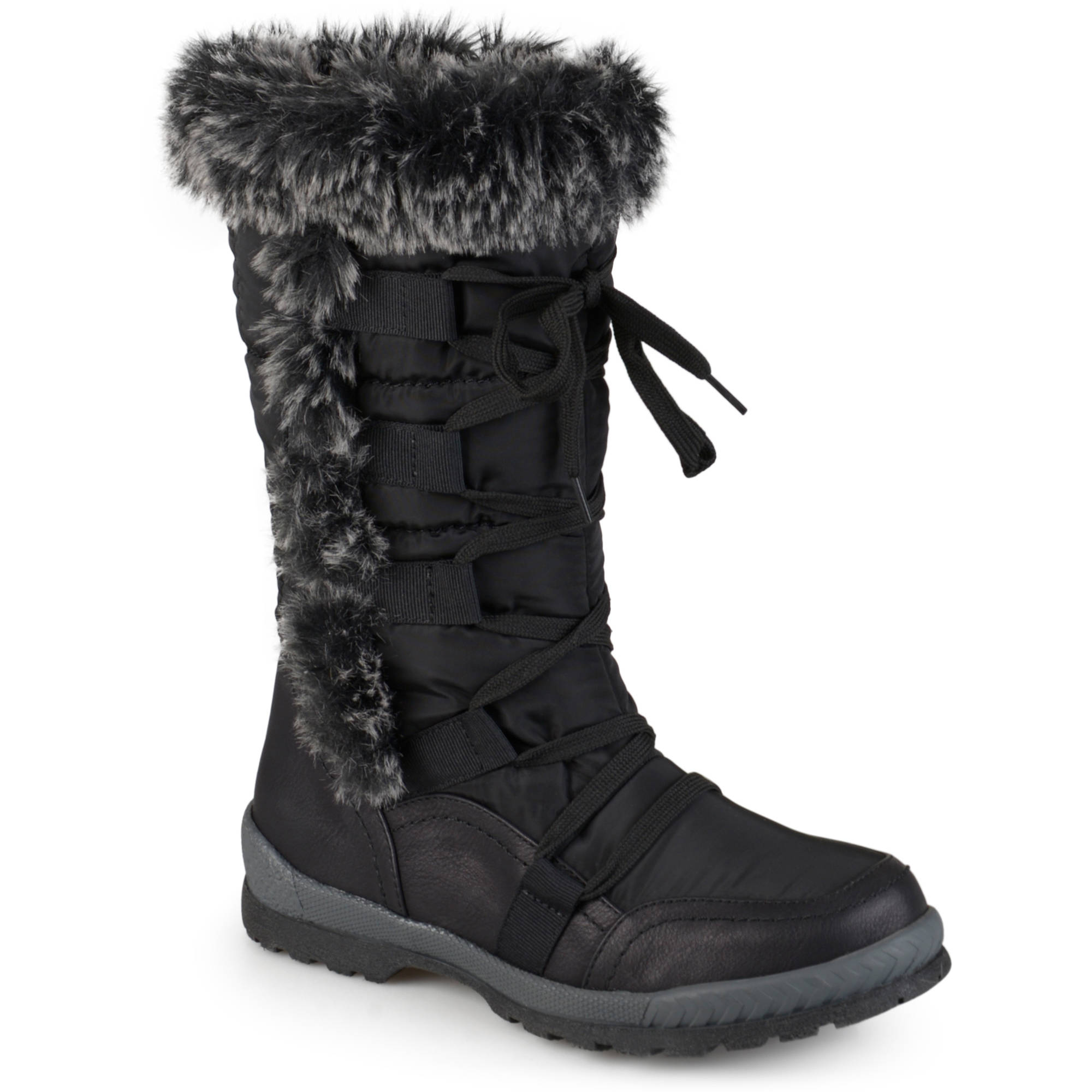 Brinley Co. Womens Cold Weather Faux Fur Boots