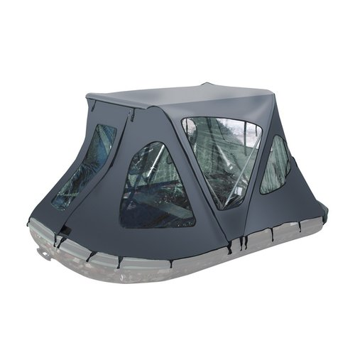 ALEKO BWTENT420G Winter Canopy Boat Tent Rain Sun Wind Snow Waterproof Shelter Covering for Inflatable Boat, Gray by ALEKO