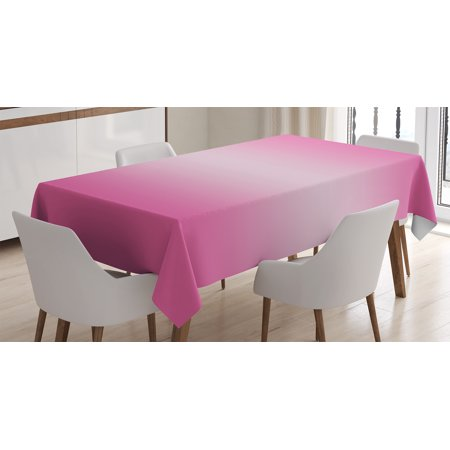 Ombre Tablecloth, Pink Candy Sweets Inspired Girls Room Decorations Digital Modern Art Print, Rectangular Table Cover for Dining Room Kitchen, 52 X 70 Inches, Pink, by Ambesonne - Small Pink Sweets