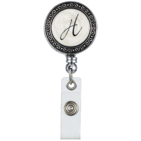 "Monogram ID Badge Reel - Initially Yours ""H"""