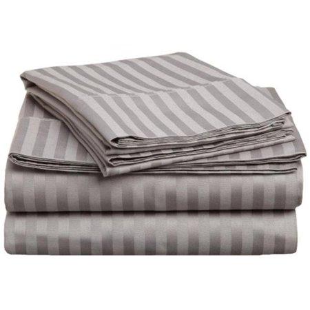 Impressions 300FLSH STGR 300 Full Sheet Set, Egyptian Cotton Stripe - Grey - image 1 of 1