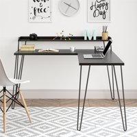 Ameriwood Home Griffin L Desk with Riser, Multiple Colors