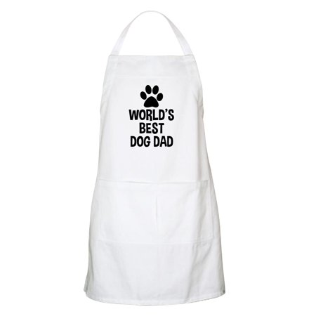 CafePress - World's Best Dog Dad - Kitchen Apron with Pockets, Grilling Apron, Baking (Best Veggie Dogs For Grilling)