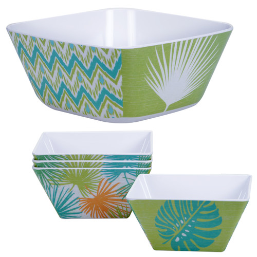 Certified International Paradise Melamine Salad Bowl 5-Piece-Set by Overstock