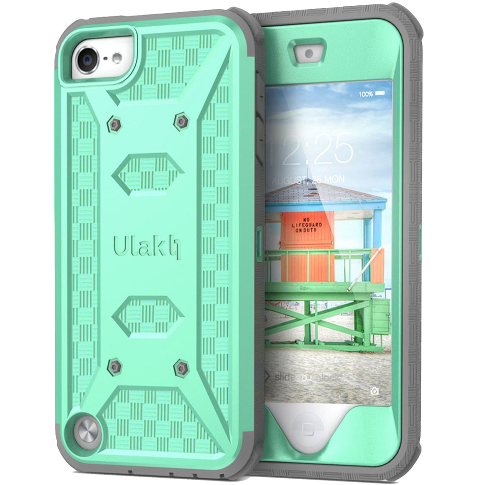 iPod Touch 6 Case,iPod Touch 5 Case, ULAK [Knox Armor] Heavy Duty Dual Layer Hybrid Protective Case  with Belt Clip Holster for Apple iPod Touch 5 6