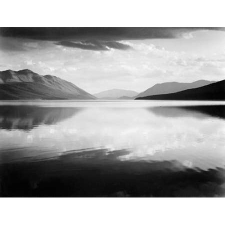 Evening McDonald Lake Glacier National Park Montana - National Parks and Monuments 1941 Poster Print by Ansel (Mcdonald Publishing Poster Set)