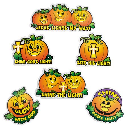 Fun Halloween Pumpkin Ideas (Fun Express - Christian Pumpkin Cutouts for Halloween - Party Decor - Wall Decor - Cutouts - Halloween - 12)