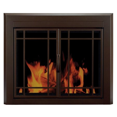 Pleasant Hearth Enfield Glass Firescreen Burnished Bronze - Large