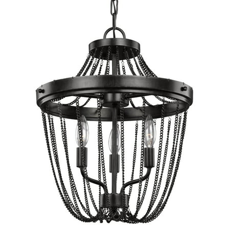 Sea Gull Lighting Kelvyn Park 7710103-846 3-Light Semi-Flush Convertible Pendant