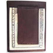 Brown Leather Flip Feature Front Pocket Wallet Designer Jewelry by Sweet Pea