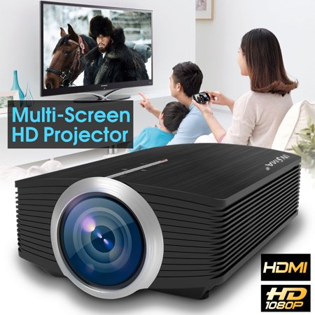 - INSMA Multi-Screen 1920x1080 Full HD TFT LCD LED Projector Home Cinema AV VGA USB multiscreen with Remote Control