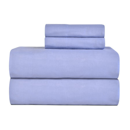 Pointehaven 4 Piece Flannel Sheet Set (Heathered Linen)