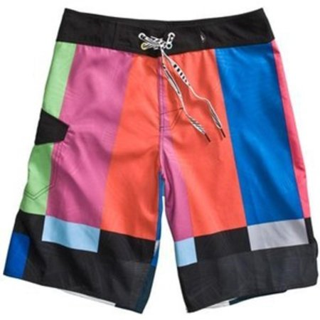 Volcom Thisisatest Mod Boardshort Mens Black/Multi Col Board Shorts