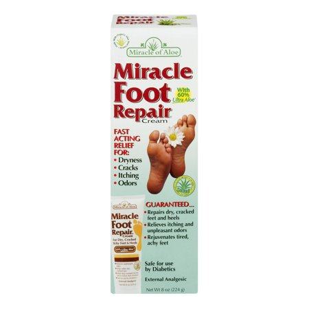 Miracle Foot Repair With 60% Ultra Aloe, 8.0 - Best Cream Cracked Heels