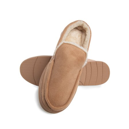 Gold Toe Mens Slippers Memory Foam House Slippers For Men Indoor Outdoor Antislip Warm Loafers Men