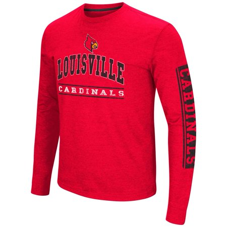 University Of Louisville Cardinal Football - Louisville Cardinals Colosseum Sky Box L/S T-Shirt - Arch Print