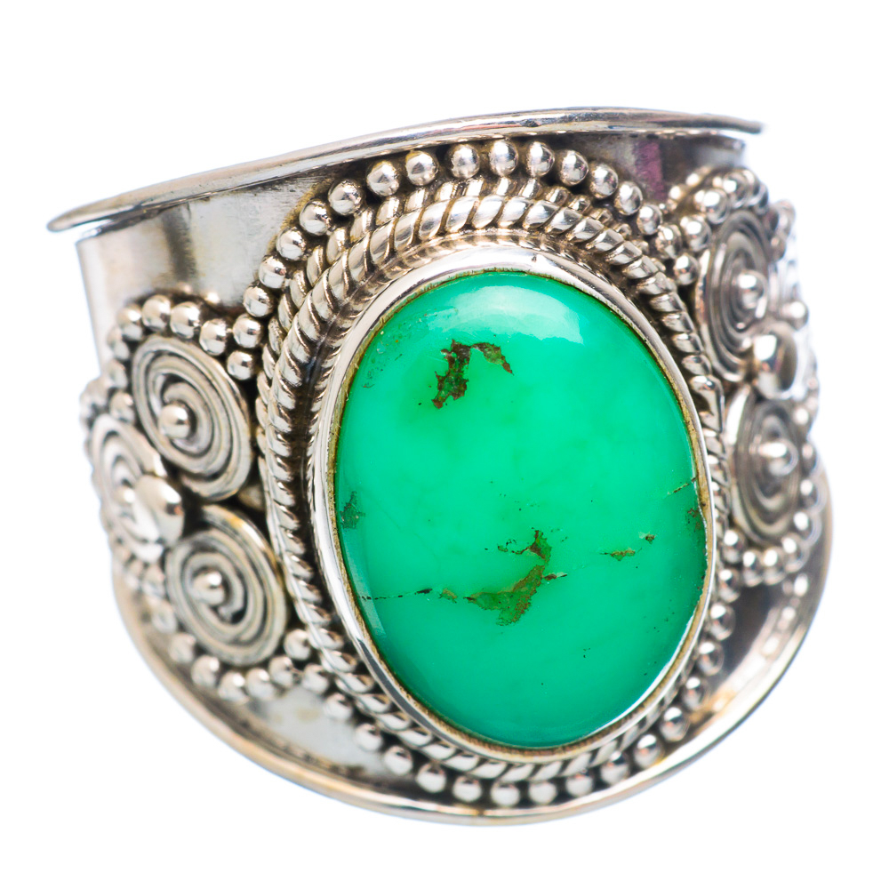Ana Silver Co Chrysoprase Ring Size 8.25 (925 Sterling Silver) Handmade Jewelry RING854409 by Ana Silver Co.