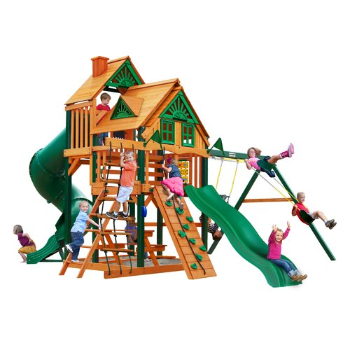 Great Skye I Treehouse Cedar Swing Set with Timber Shield™ Posts