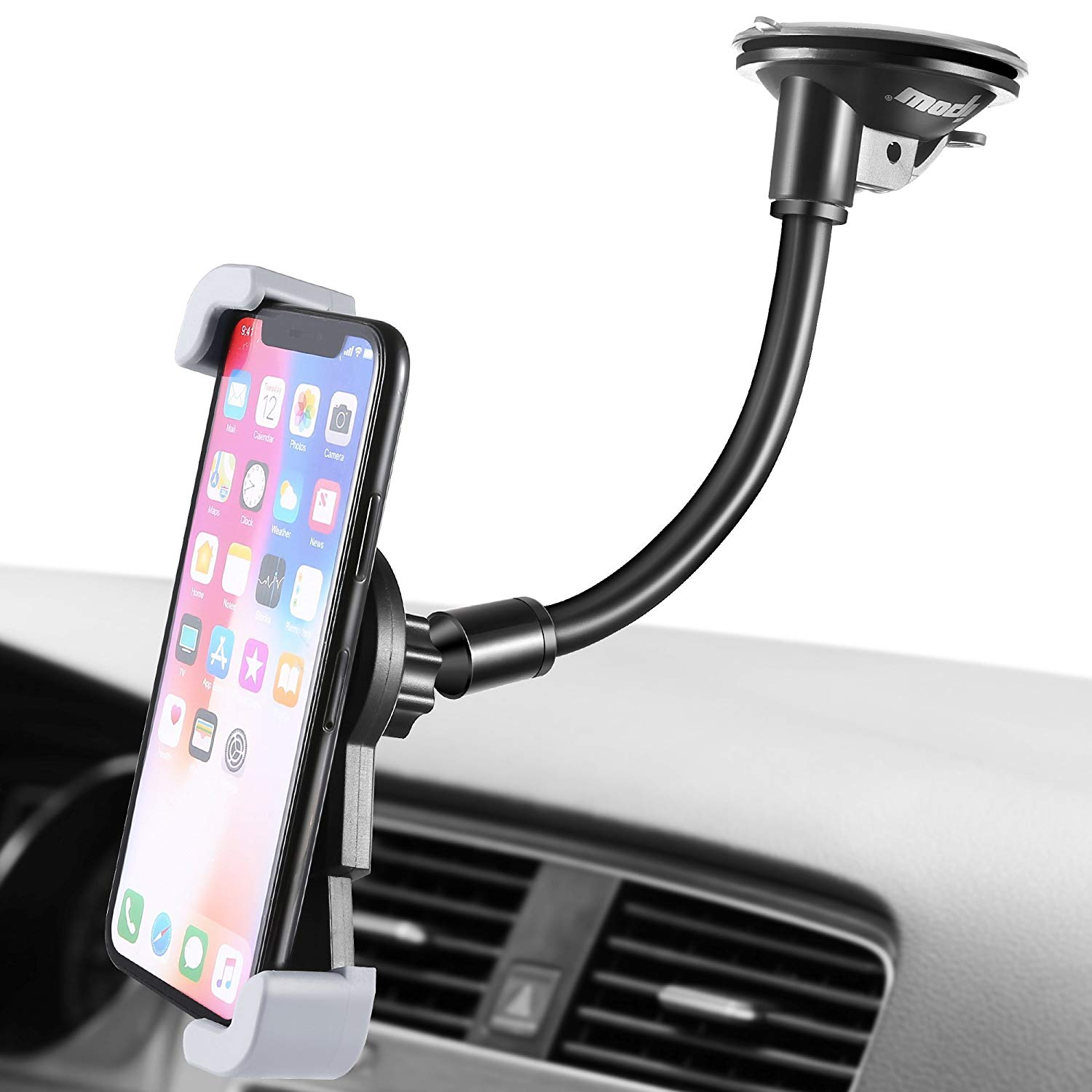 IPOW Car Phone Holder, Dashboard/Windsheild Car Phone Mount Cell Phone Holder Stand for Car with Strong Suction Cup for Mobile GPS iphone X 8 Plus 7 Plus 6 6s Plus Samsung Galaxy S9 S8 S7 Smartphones