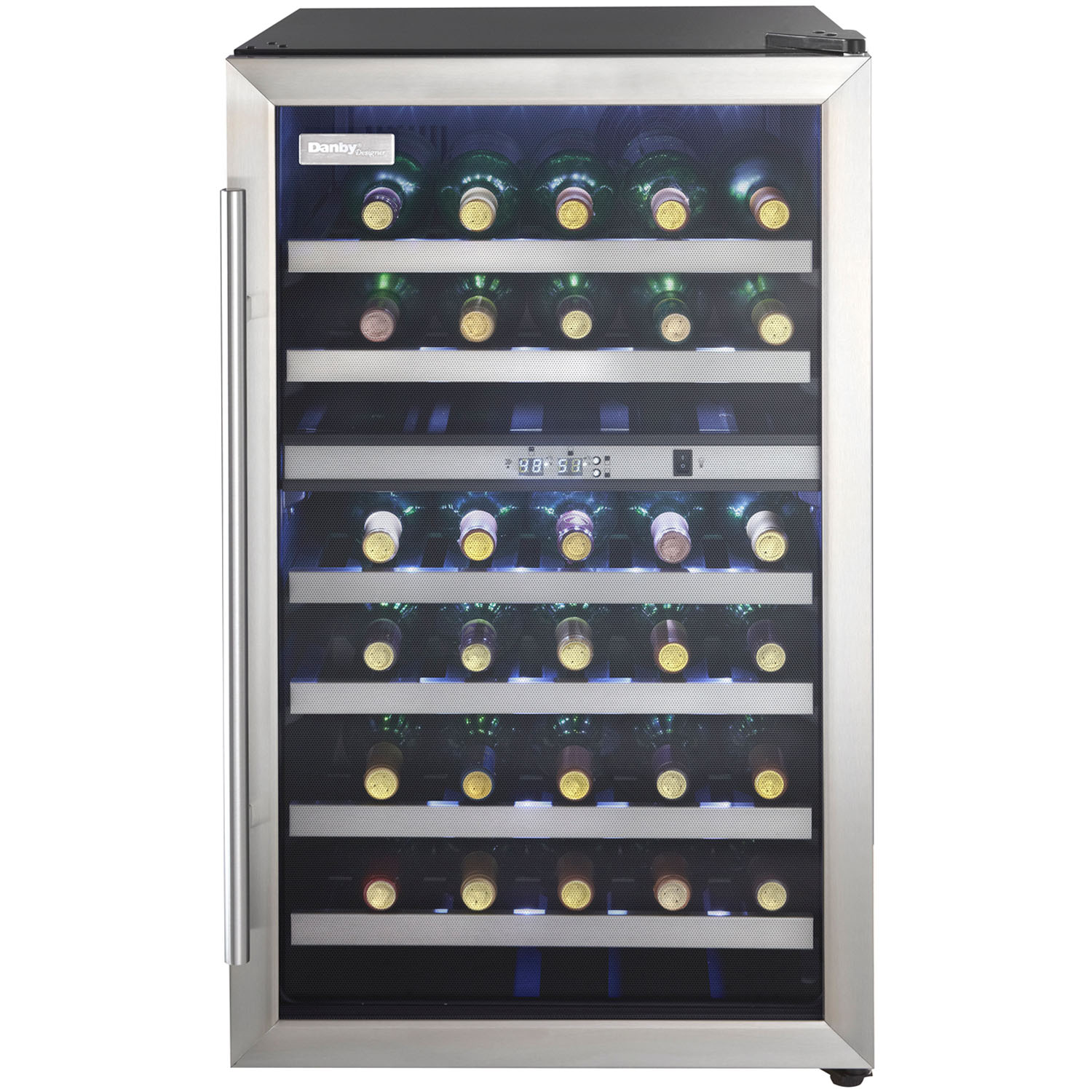 Danby Designer 38-Bottle Free-Standing Dual-Zone Wine Cooler - Black
