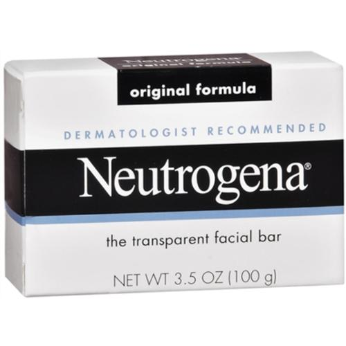 Neutrogena The Transparent Facial Bar Original Formula, 3.50 oz (Pack of 4)