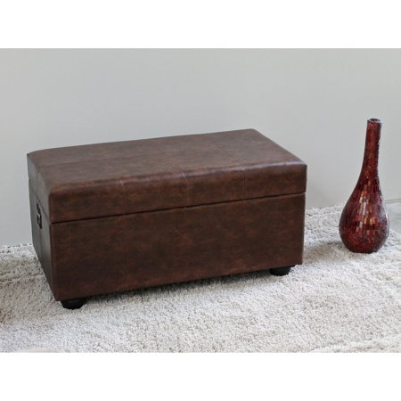 Istanbul Faux Leather Bench/ - Leather Trunk